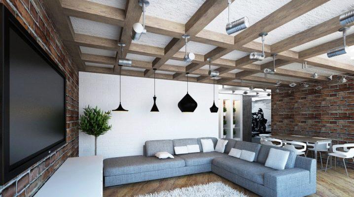 Caractéristiques des plafonds de style loft: options de conception