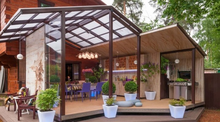 Terraza exterior: diferencias desde la veranda, ejemplos de diseño.