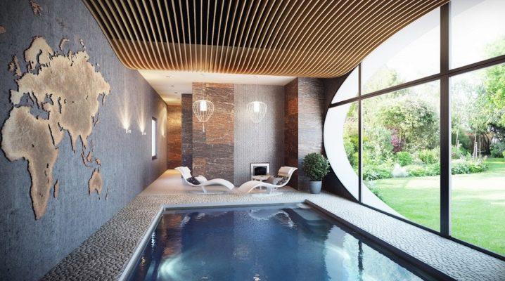 Plafonds dans une maison privée: le choix du matériau et des finitions