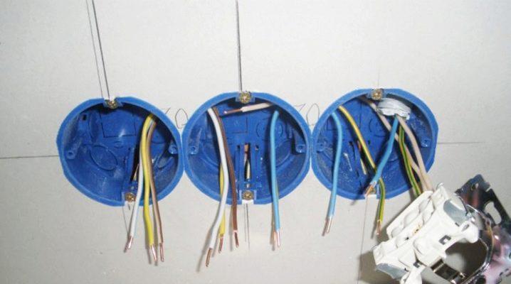 Installationsprocessen podrozetnikov i gips