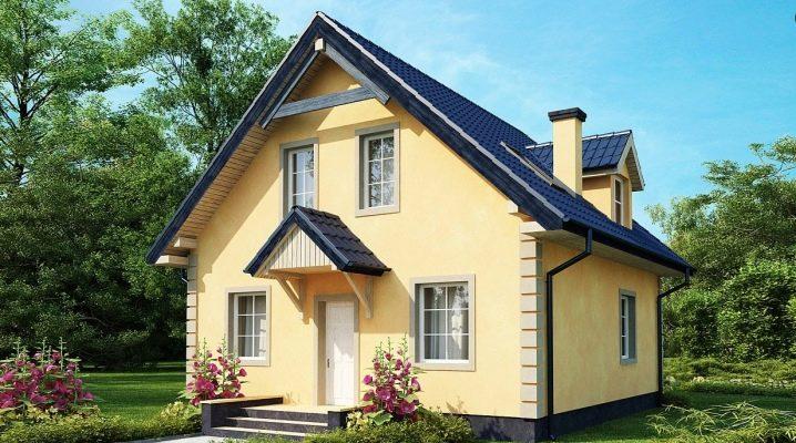 Projekt av hus med vinden upp till 100 m2