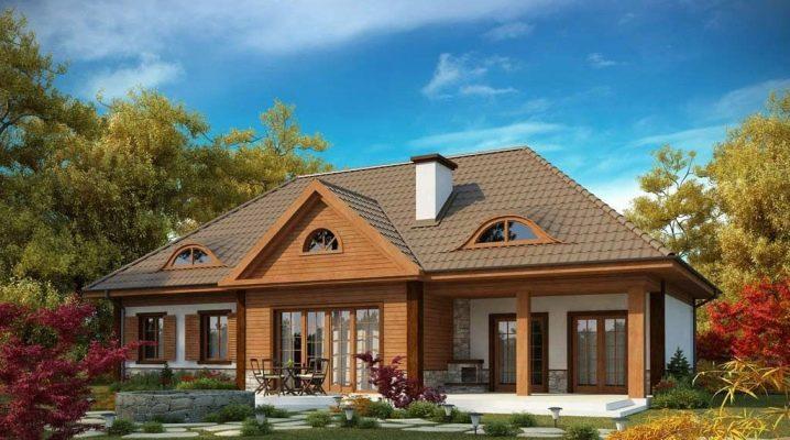 Проекти на красиви къщи с таван до 150 м2