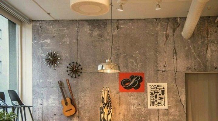 Stuckatur för betong i ett modernt interiör