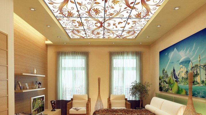 Plafond de verre en design d'intérieur