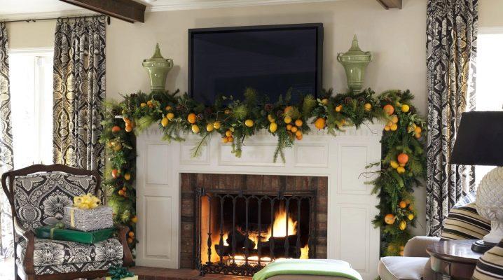DIY eldstad dekoration