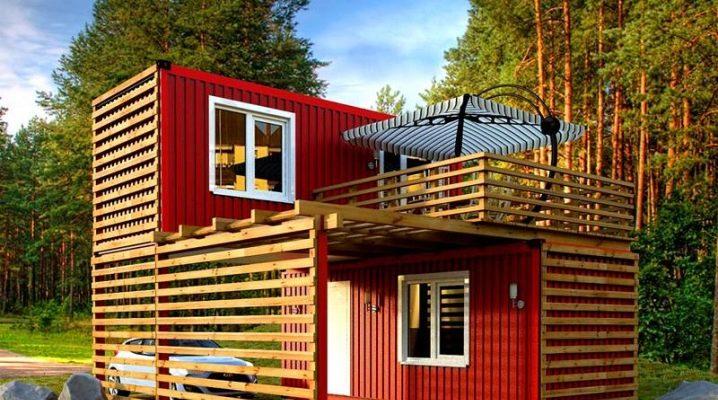 Stuga med veranda: alternativ för arrangemang