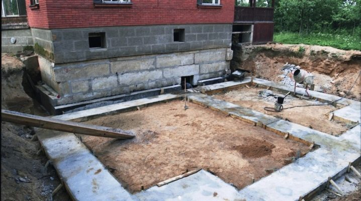 Fondazione per l'ampliamento della casa: caratteristiche costruttive