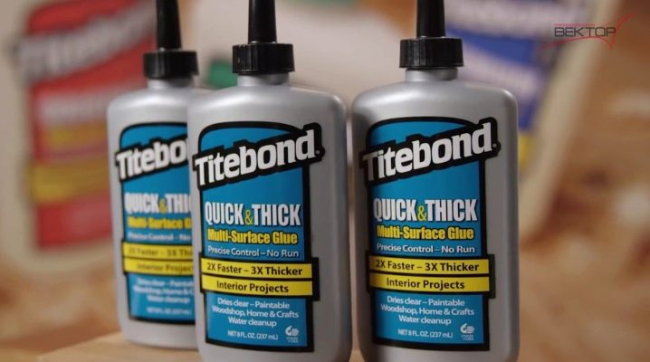 Colle Titebond: variations et utilisations