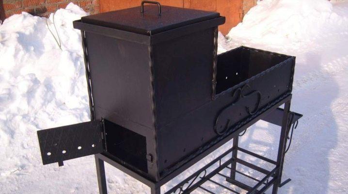 Brazier-rökhus: typer och egenskaper hos tillverkningen