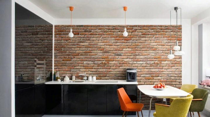 Brick MDF paneler: exempel på inredning