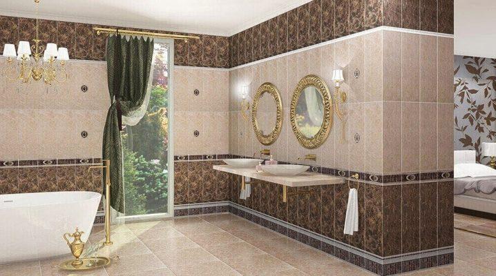 Mosaik av porslinsplattor i interiören