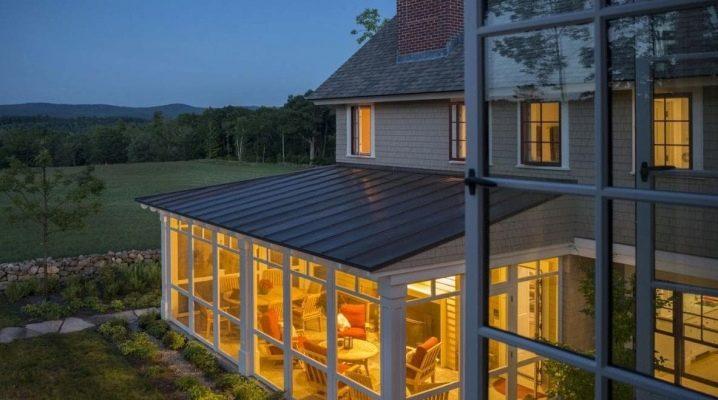 Glasering av verandor och terrasser: funktioner och designalternativ