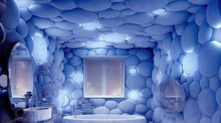 Pannelli di plastica con un motivo 3D in bagno
