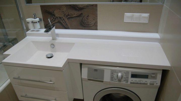 Waschbecken über Waschmaschine (125 Fotos): \