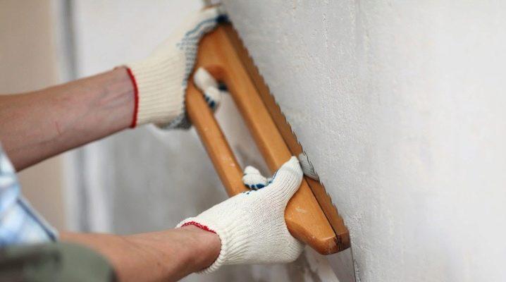 Förbrukning av gips per 1 m2 vägg