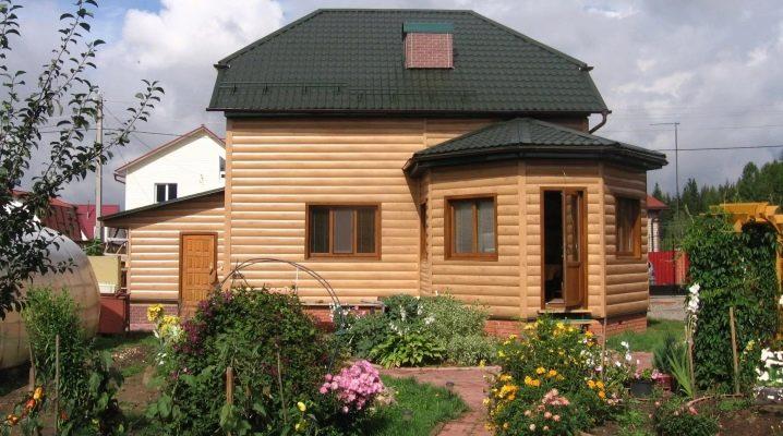 Siding block house: storlekar och färger