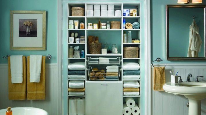 Badezimmerschrank (131 Fotos): Einbauschrank im Badezimmer ...