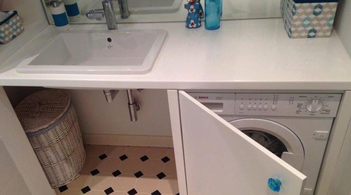 Schrank für Waschmaschine im Badezimmer: mit eingebautem ...