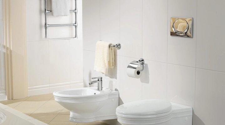 Installation av hängande och golvmontering av en toalettskål