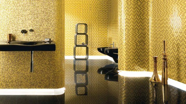 Gyllene mosaik i inredningen