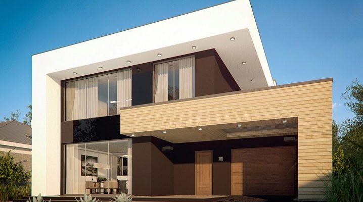 एक फ्लैट छत वाला एक घर: डिज़ाइन सुविधाएं, पेशेवर और विपक्ष