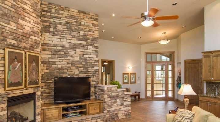 Facing stone for interior decoration: variations and design options