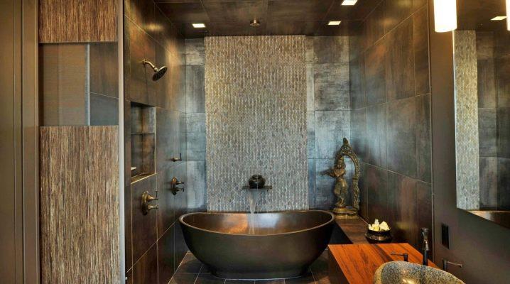 बाथरूम टाइल: इंटीरियर में मूल विचार