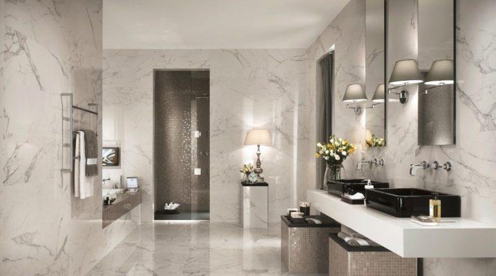 Badrums marmorplattor: designfunktioner och urvalskriterier