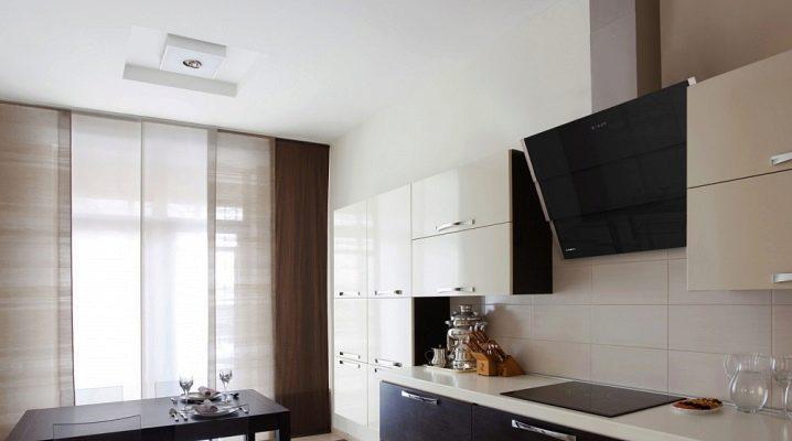 Black hood in kitchen interior design