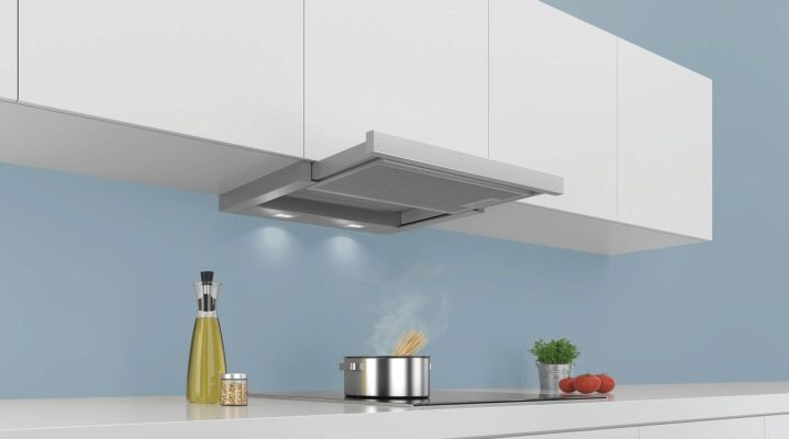 Features hoods without exhaust in the ventilation for the kitchen