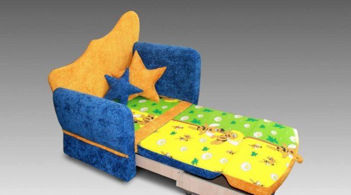 Children's folding sofas: models and tips for choosing