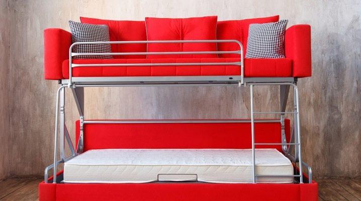 Canapé transformable en lit superposé