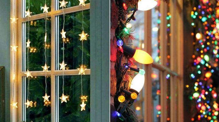 Como decorar as janelas com guirlandas para o Ano Novo?