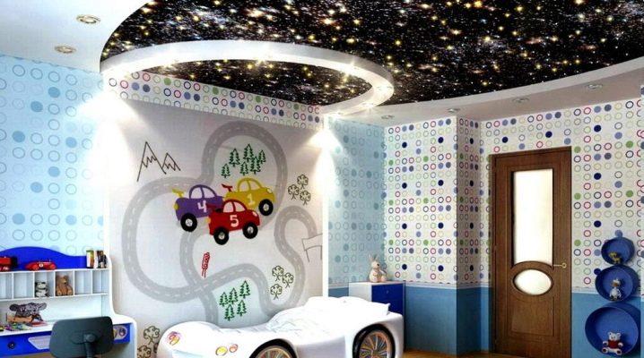 Spanndecke mit Sternen im Kinderzimmer (24 Fotos): Decke ...