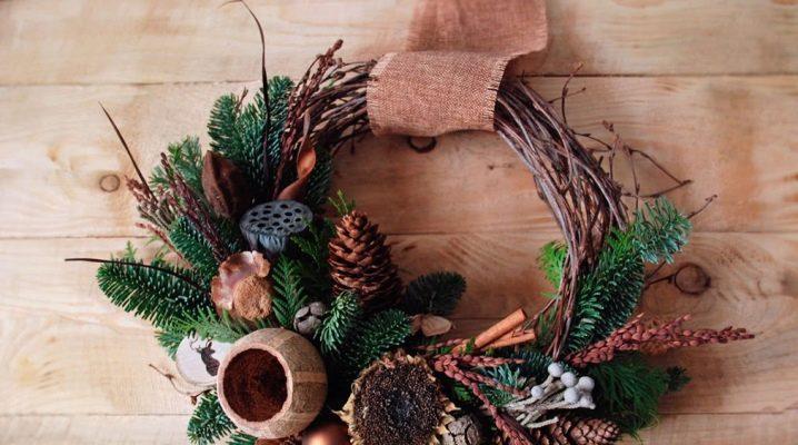 Nyårs dekor i eko-stil: ursprungliga idéer och tips