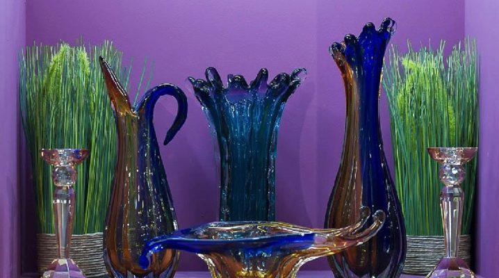 ग्लास vases: पसंद के प्रकार और बारीकियों