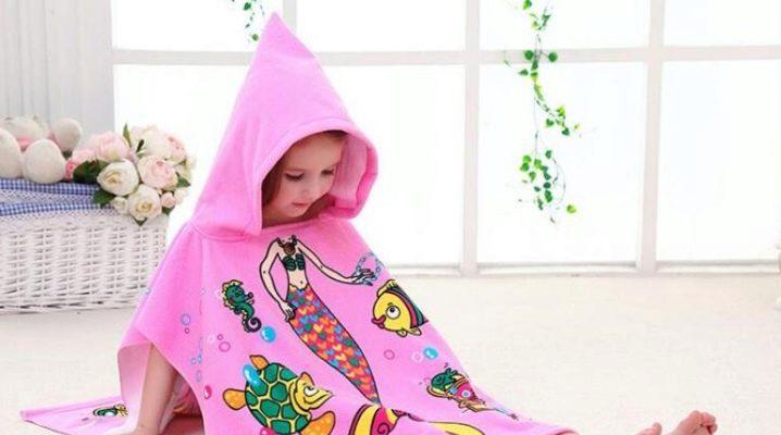 Baby poncho towel