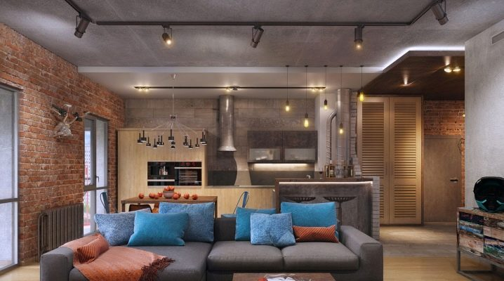 Design Kitchen Living Room Of 20 Square Meters M 72 Photos The Layout Of The Combined Rooms The Project Of The Interior Of A Rectangular Room With A Sofa And Kitchen