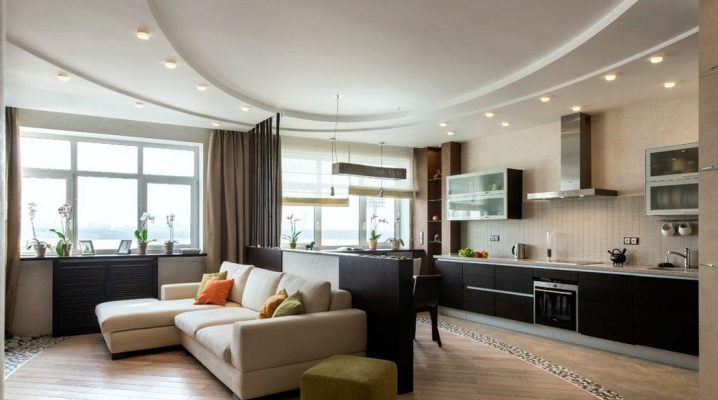 Design kitchen-living room of 30 square meters. m: options for planning and zoning