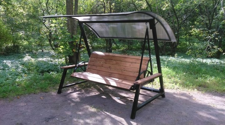 How to make a garden swing out of metal with your own hands?