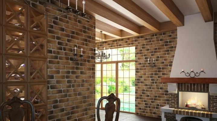 Features and use of clinker brick for interior decoration