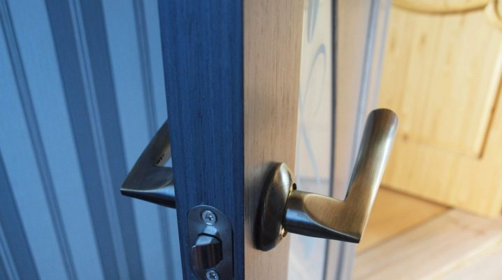 Choose and install the latches on the interior doors
