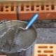 Mennyi cementre van szükség a betonkockánként?