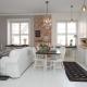 Design kitchen-studio area of 20 square meters. m