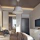 Design bedroom area of 8 square meters. m