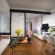 Planning a studio apartment of 24 square meters. m