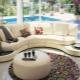Semicircular sofas