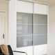 Sliding wardrobe with frosted glass