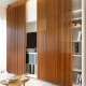 Sliding wardrobe with TV niche