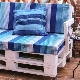 Sofas from pallets with their own hands